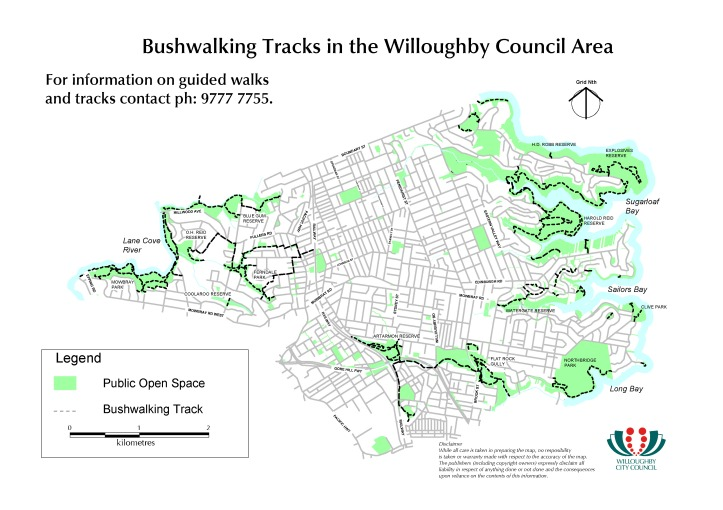 Bushwalking Tracks in the Willoughby Council area