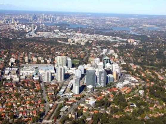 Chatswood from above